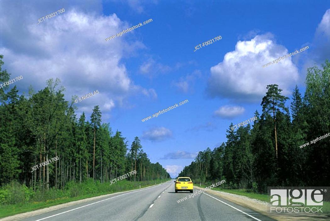 Stock Photo: Estonia, near Tallinn, Baltic highway.
