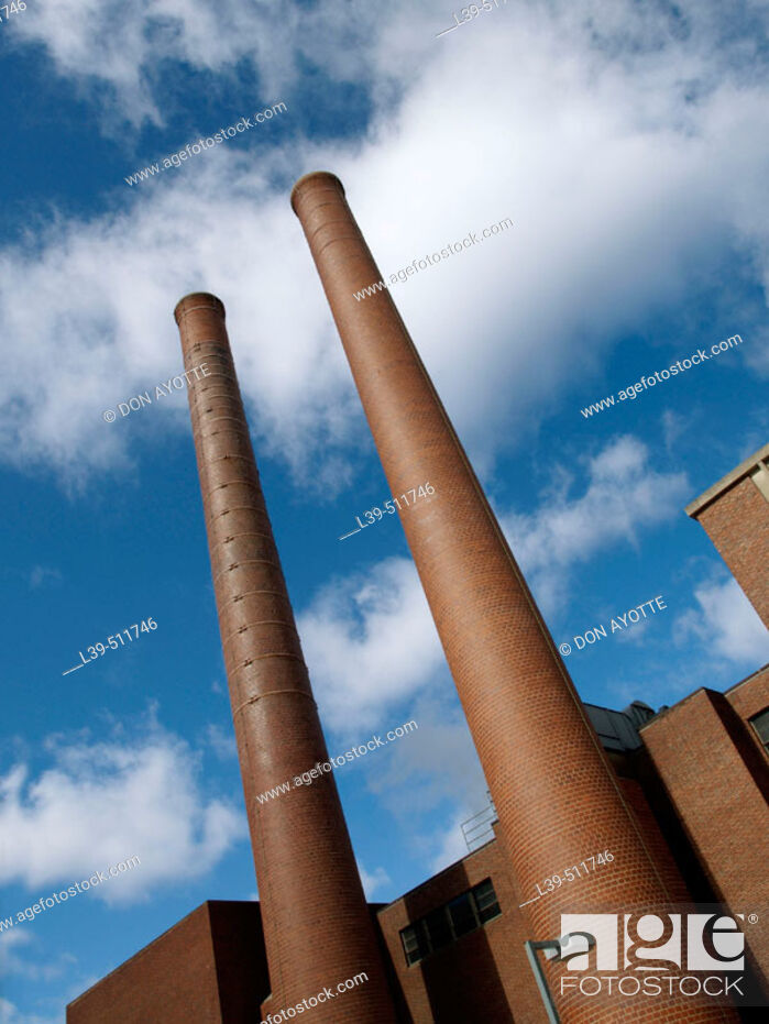 Stock Photo: Industrial site in Hartford. Connecticut, USA.