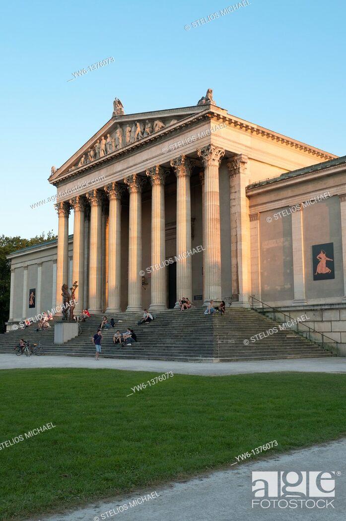 Stock Photo: Antikensammlungen Museum at Konigsplatz in Munich,Germany.