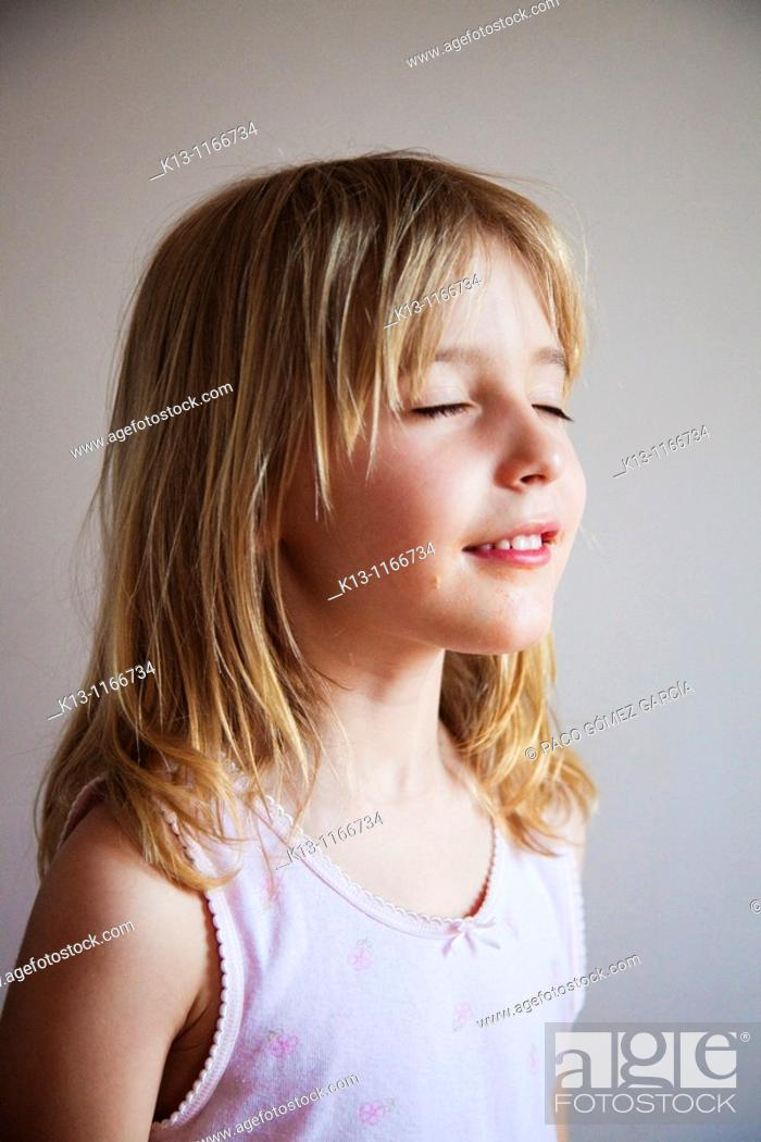Stock Photo: Girl daydreaming.
