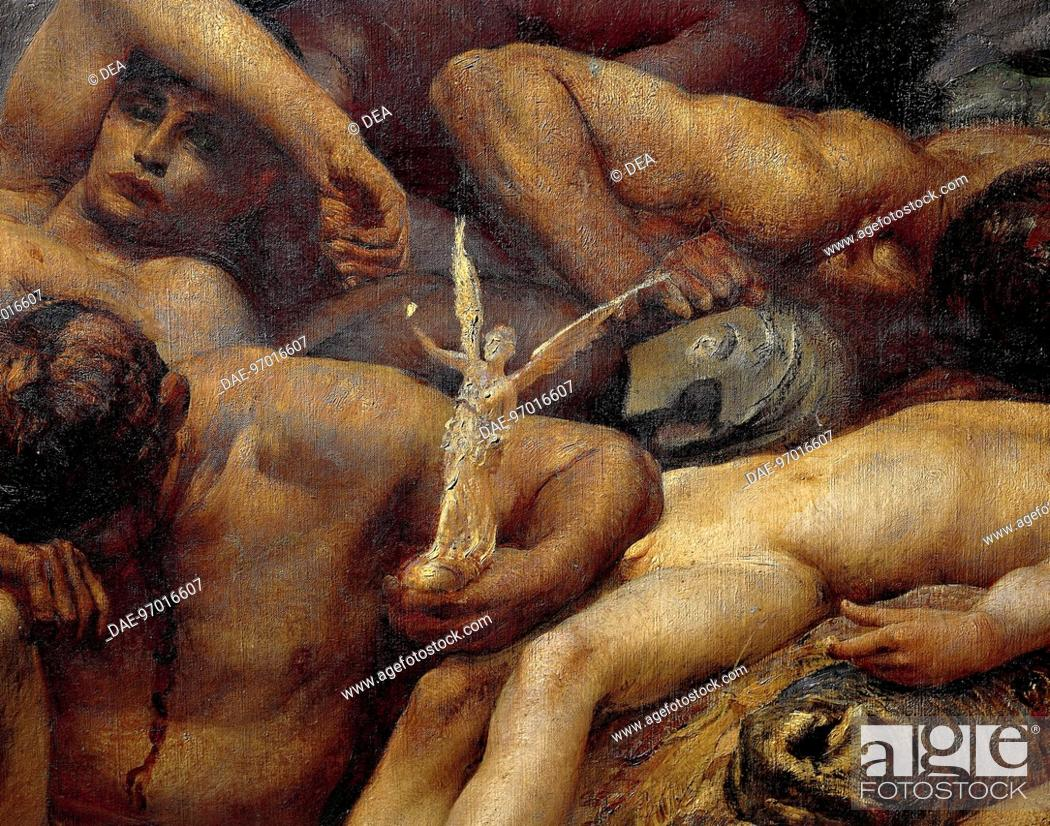 Stock Photo: Diana of Ephesus and the Slaves, 1895-1899, by Giulio Aristide Sartorio (1860-1932), oil on canvas, 304x421 cm. Detail.  Rome.