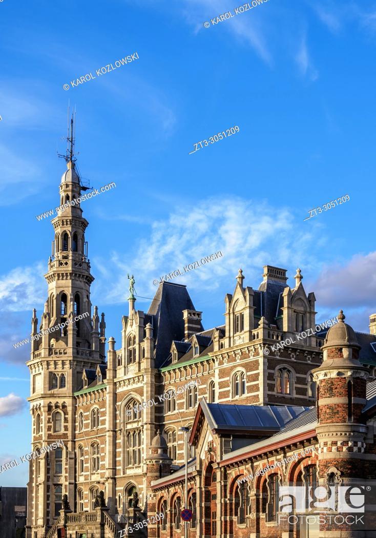 Stock Photo: Loodsgebouw, Pilotage Building, Antwerp, Belgium.