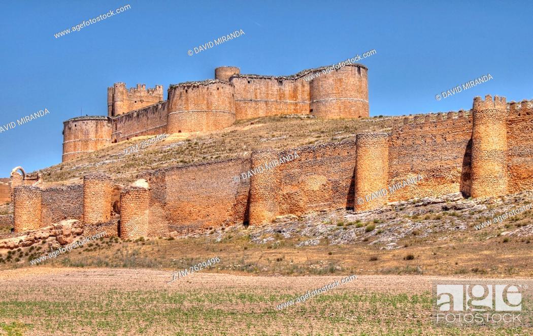 Stock Photo: Castillo de Berlanga de Duero. Conjunto histórico artístico. Soria. Castilla León. España.