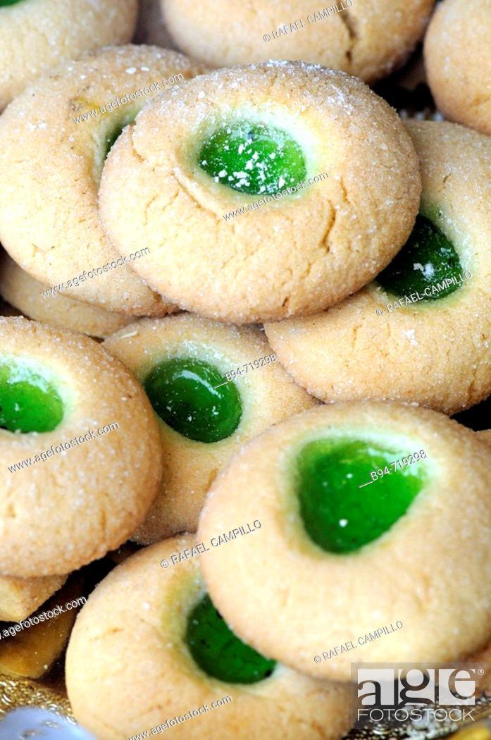 Stock Photo: Tea biscuits.
