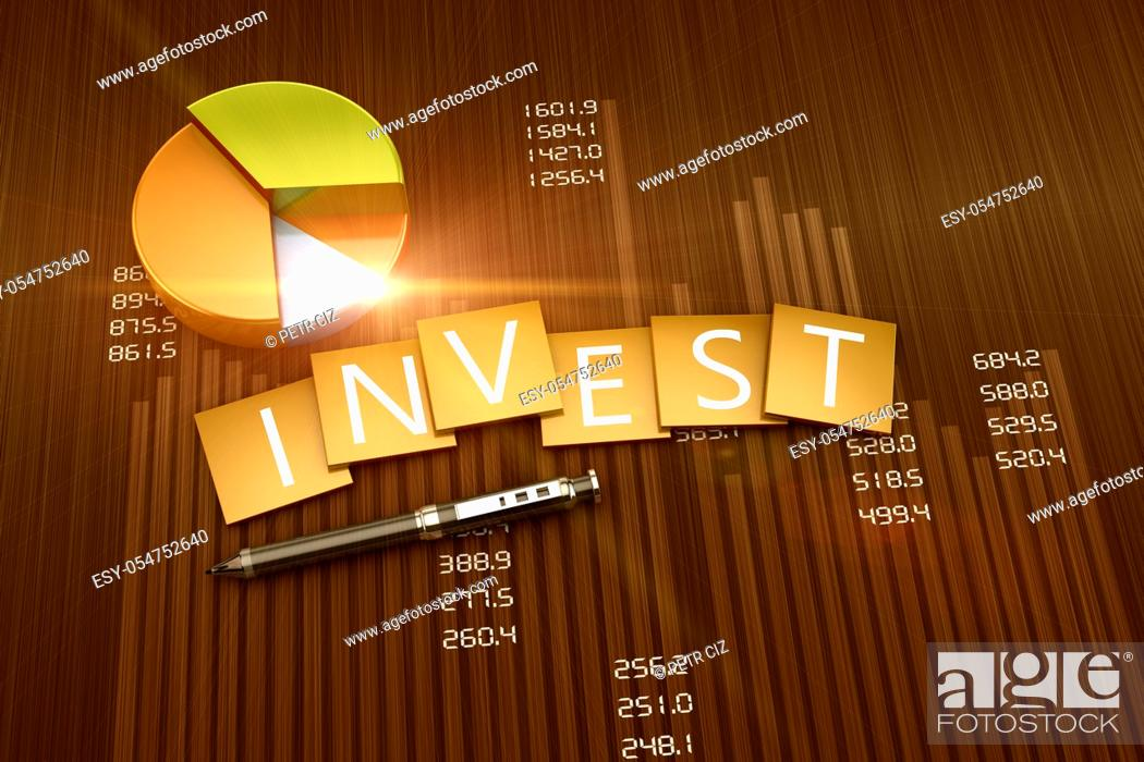 Stock Photo: Financial graph of investment and business development.