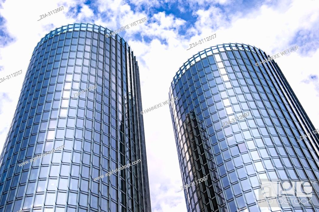 Imagen: Newly built Z-Towers in Riga, Latvia, Europe.