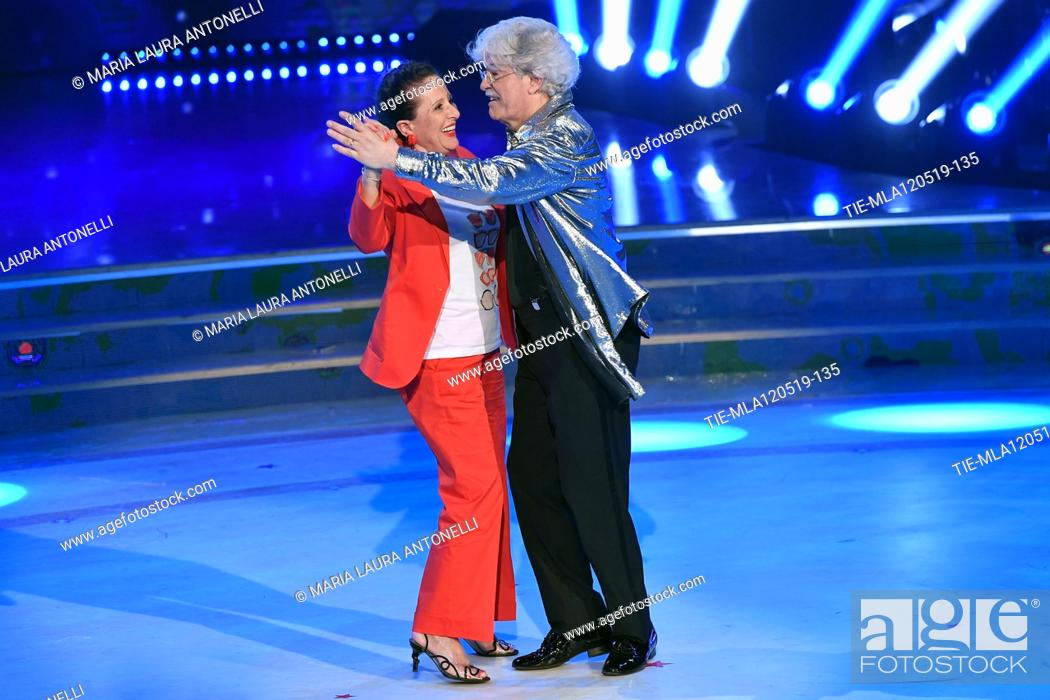 Imagen: Antonio Razzi dancing with wife Maria Jesus Fernandez at the tv show Ballando con le setelle (Dancing with the stars) Rome, ITALY-11-05-2019.