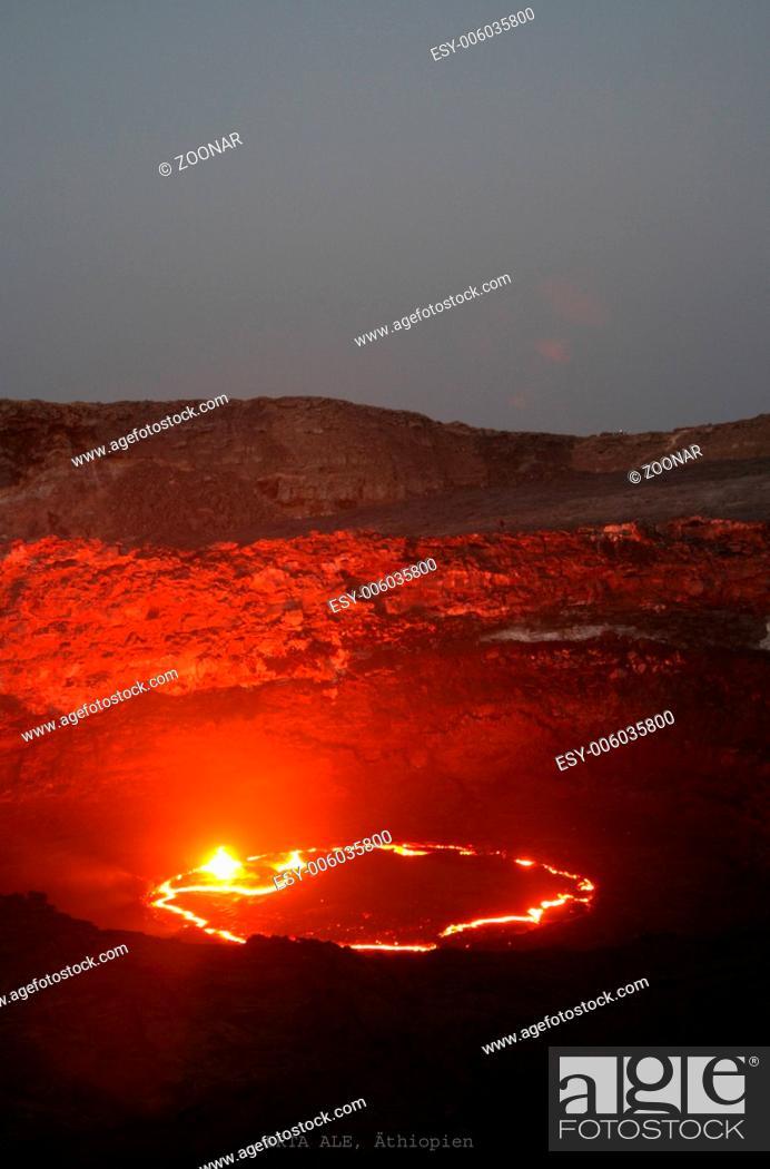 Imagen: Volcano Erta Ale in Ethiopia.