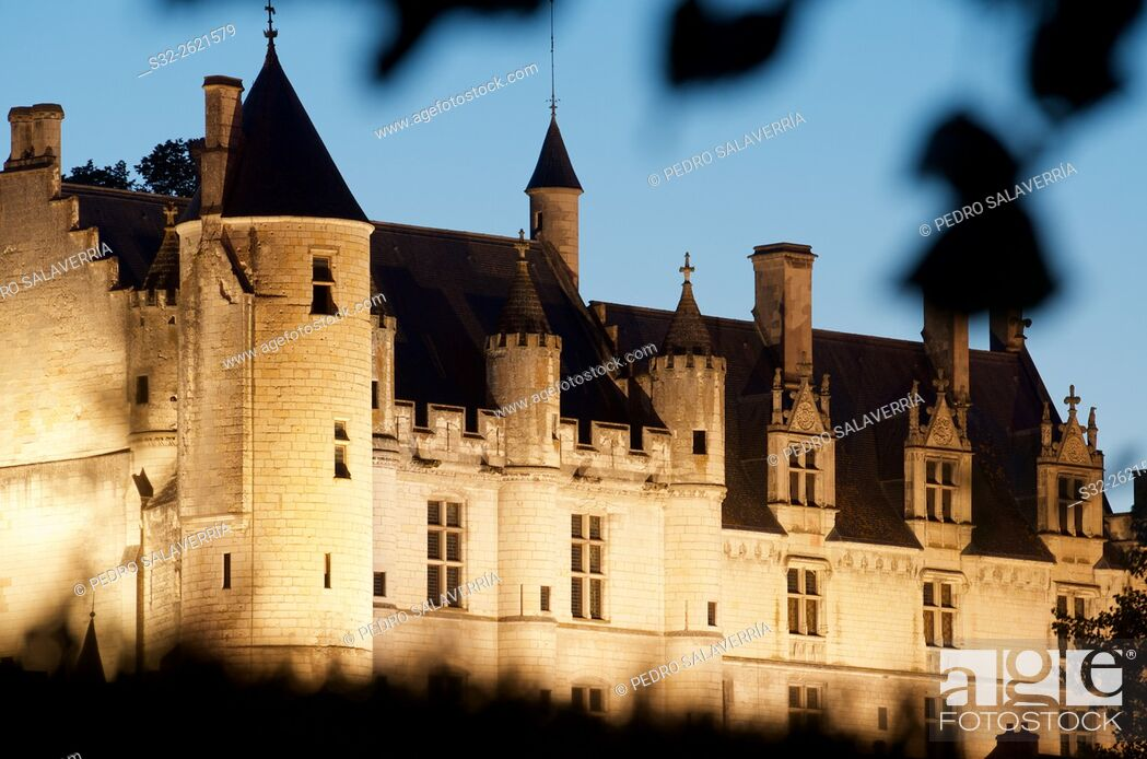 Stock Photo: Loches castle in Loire Valley, France.