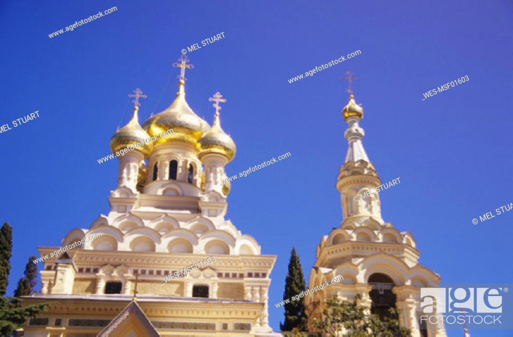 Stock Photo: Yalta, Aleksandr Nevskij Cathedrale, Ukraine.