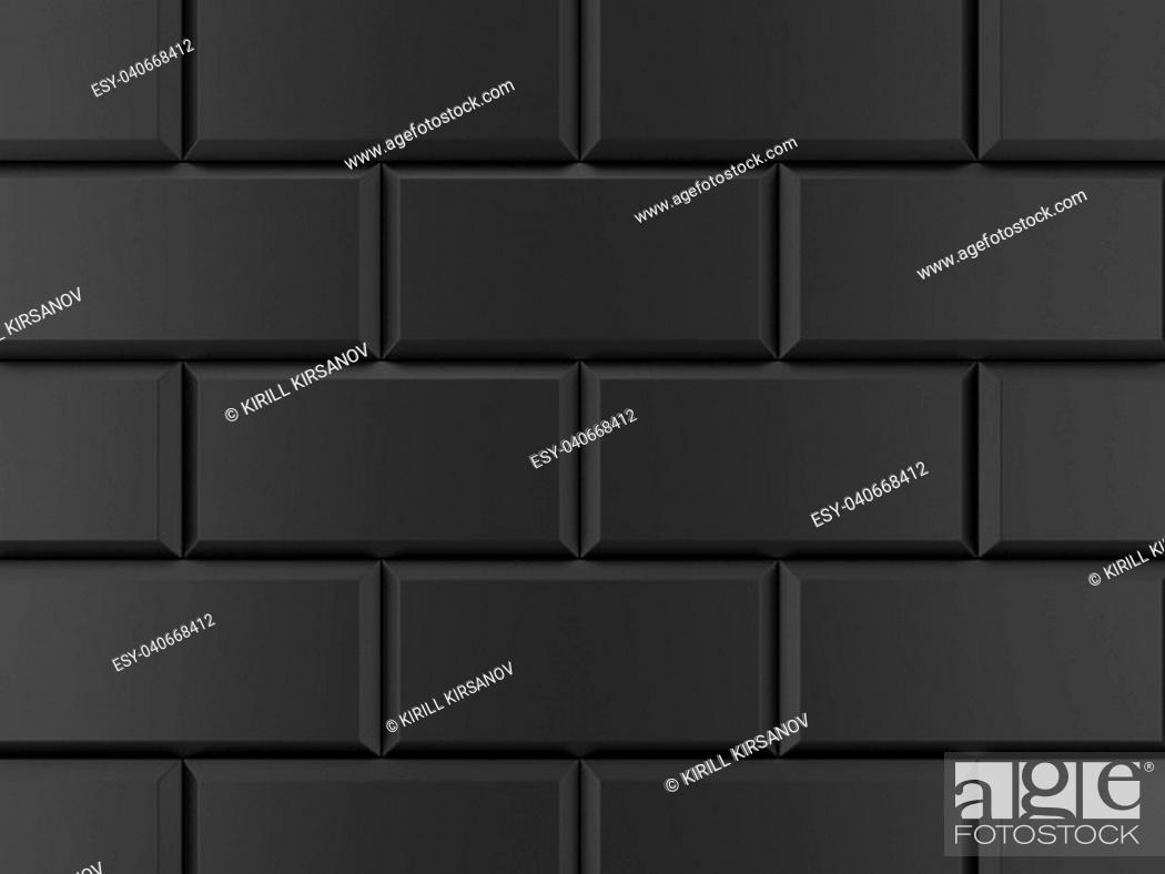 Stock Photo: Brick tile. 3d background.