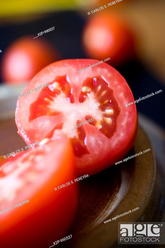 Stock Photo: tomato detail.