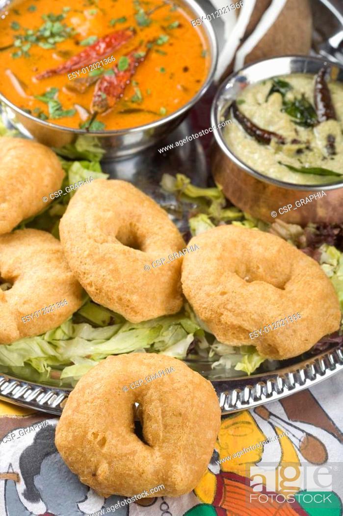 Imagen: Indian food, Medhu Vada, Lentil fri.