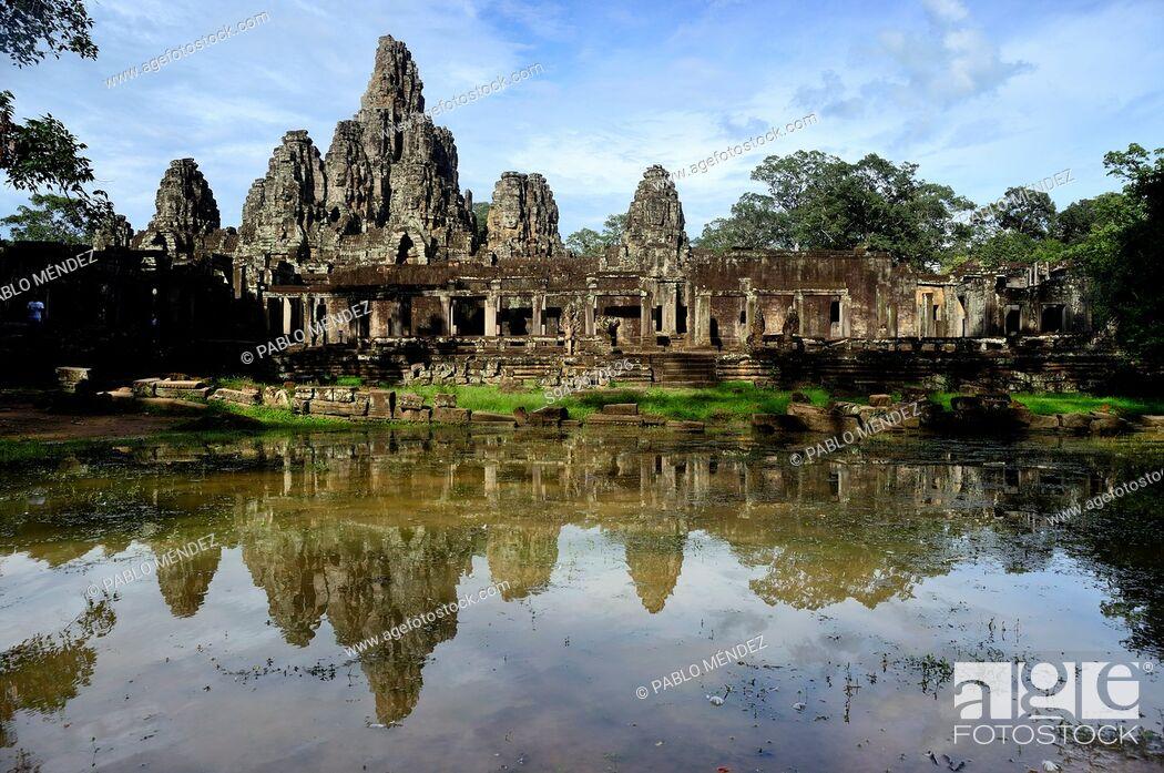 Stock Photo: Bayon temple, Angkor Thom, Siem Reap, Cambodia.