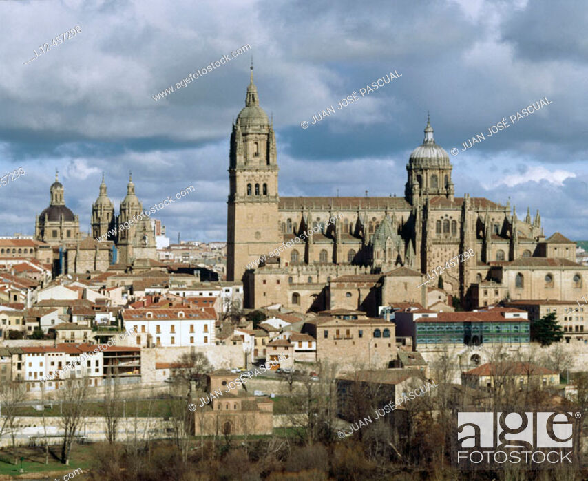 Imagen: Old Romanesque cathedral (12th century) and new cathedral (16th-18th century), Salamanca. Castilla-León, Spain.