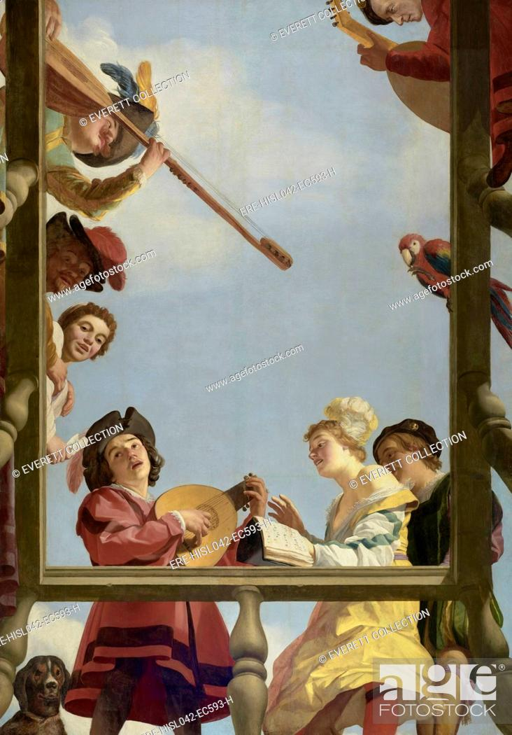 Musical Group on a Balcony, by Gerrit van Honthorst, 1622, Dutch