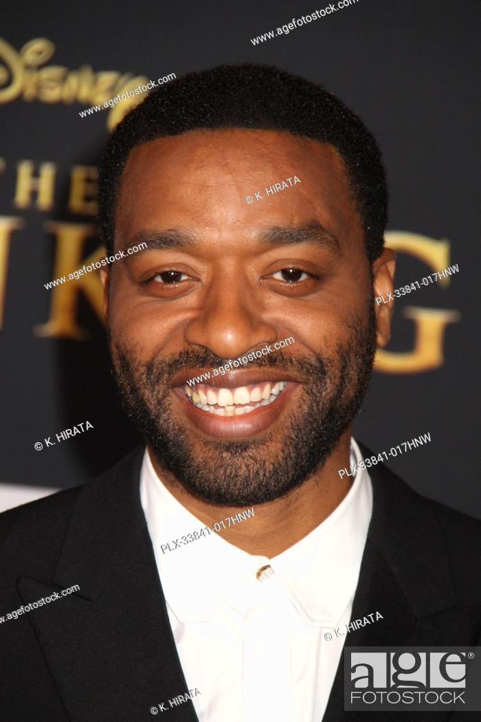 """Stock Photo: Chiwetel Ejiofor 07/09/2019 """"""""The Lion King"""""""" Premiere held at the Dolby Theatre in Hollywood, CA. Photo by: K. Hirata / HNW/ PictureLux."""