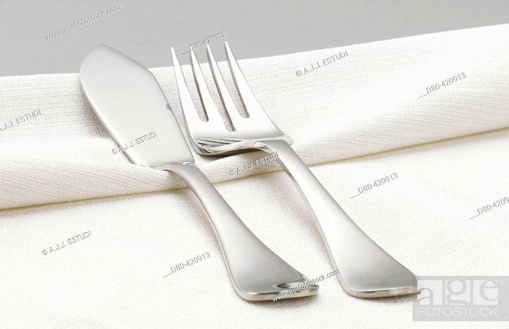 Stock Photo: Fish cutlery.