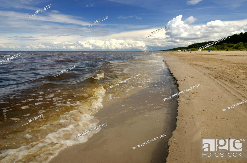 Stock Photo: Beach and Baltic sea.Latvia.