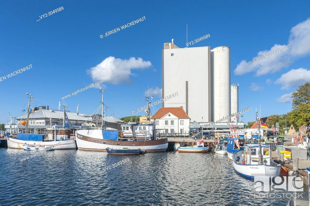 Stock Photo: Fishing harbor, Burgstaaken, Fehmarn, Baltic Sea, Schleswig-Holstein, Germany, Europe.