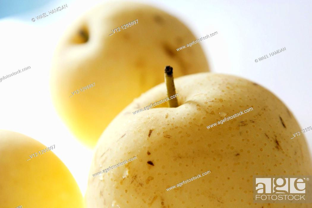 Stock Photo: Chinese apple, a fruit from Asia, tastes like pear.