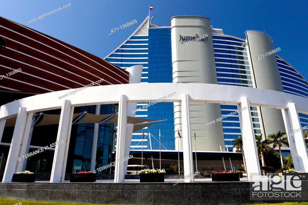 Stock Photo: The Jumeirah Beach Resort hotel exterior in Dubai, UAE.