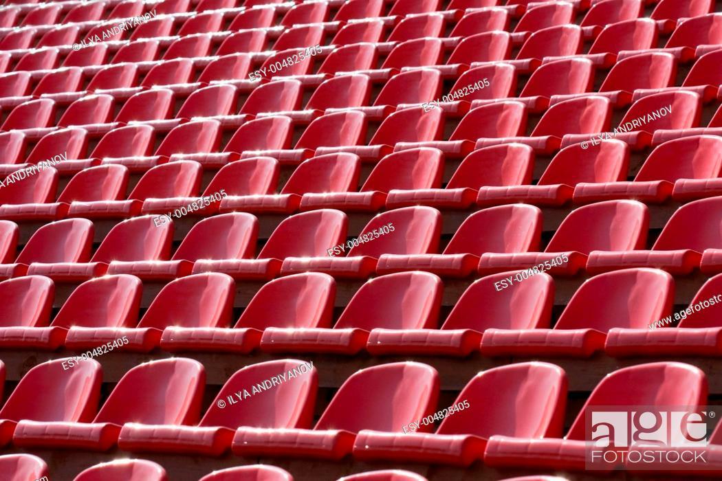 Stock Photo: Stadium bleachers.