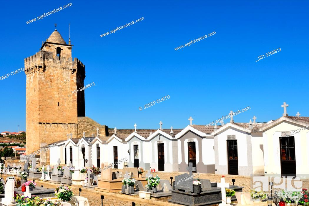 Stock Photo: Castle of Freixo de Espada a Cinta, Braganza District, Tras os Montes-Alto Douro province, Portugal.