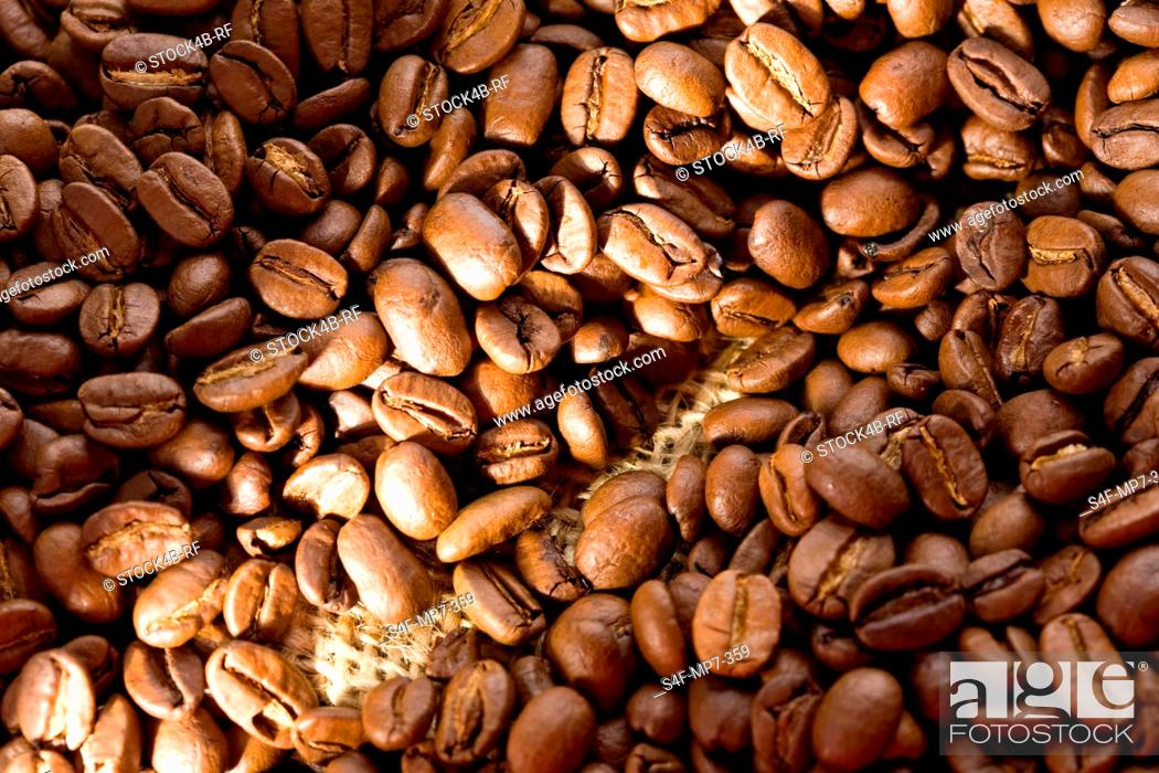 Stock Photo: Detail of coffee beans.
