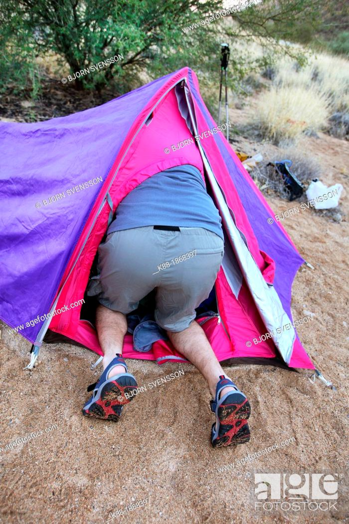 Stock Photo: Camping on the Larapinta Trail, Central Australia.