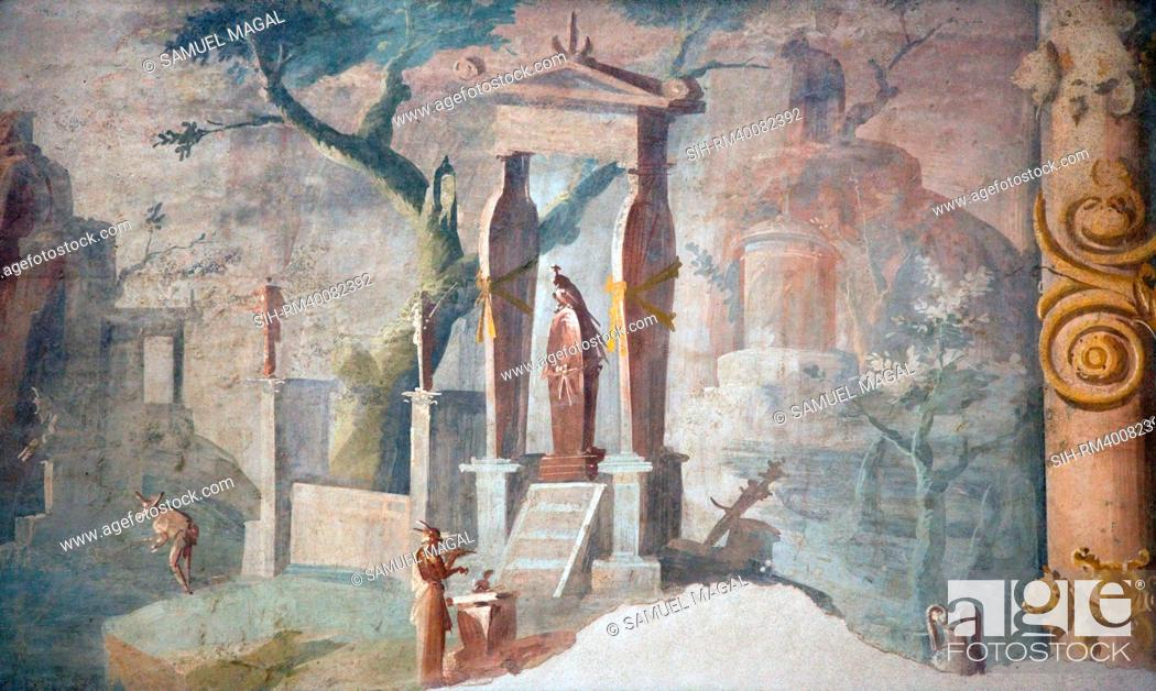 Stock Photo: Italy, Naples National Archeological Museum, from Pompeii, Isis Temple, Ceremony in Honor of Osiris.