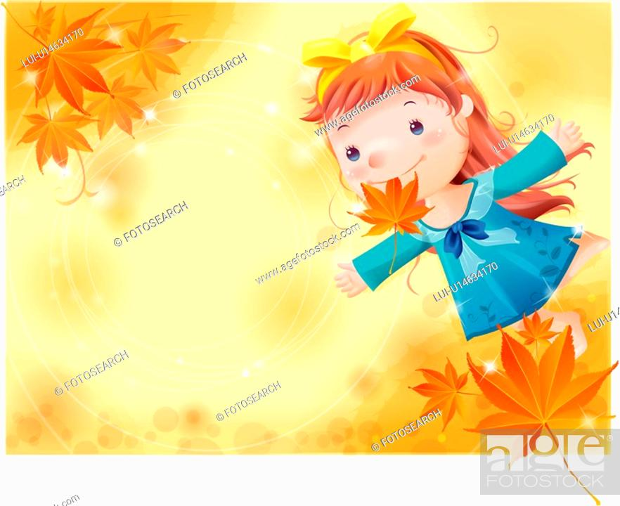 Stock Photo: autumn color, fairy tale, maple tree, autumn leaf, autumn, nature.