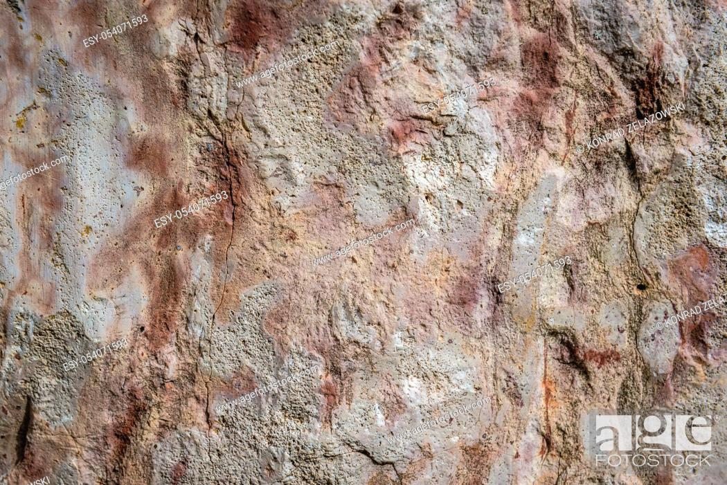 Stock Photo: Close up on a Paleozoic limestones rocks in Dylewo Hills Landscape Park, Poland.