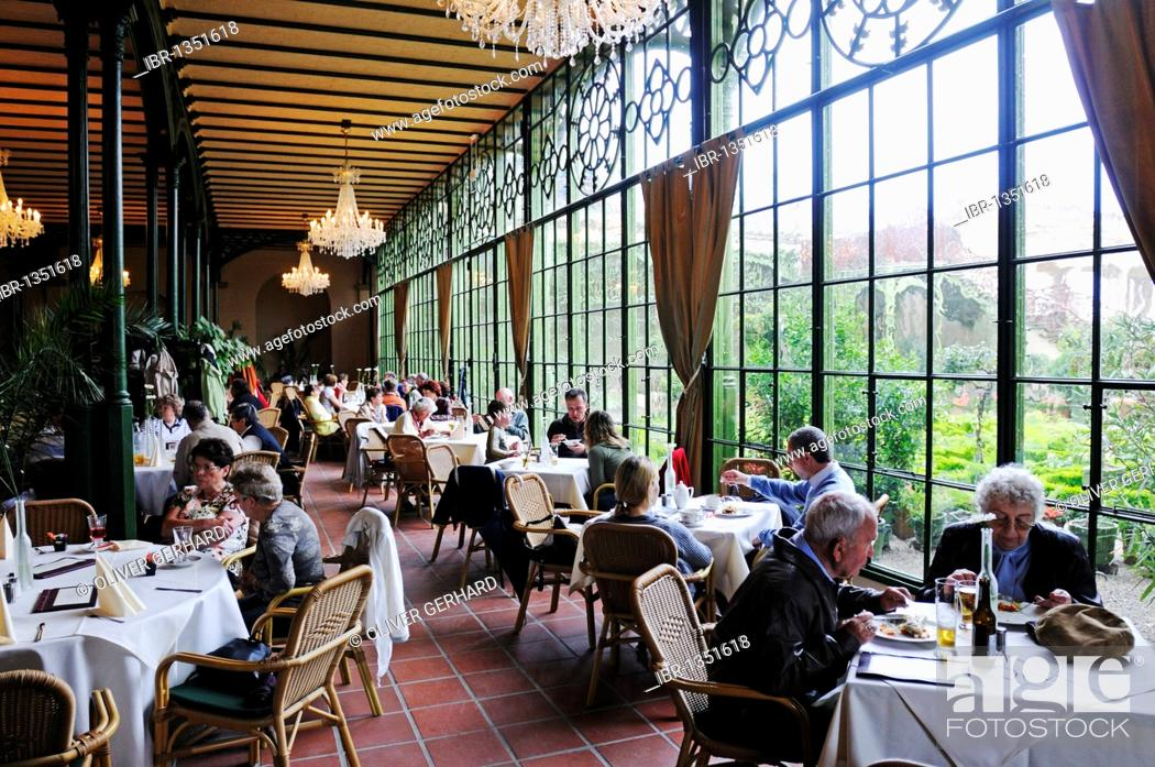 Cafe And Restaurant In The Orangery On The Alter Garten Square Of