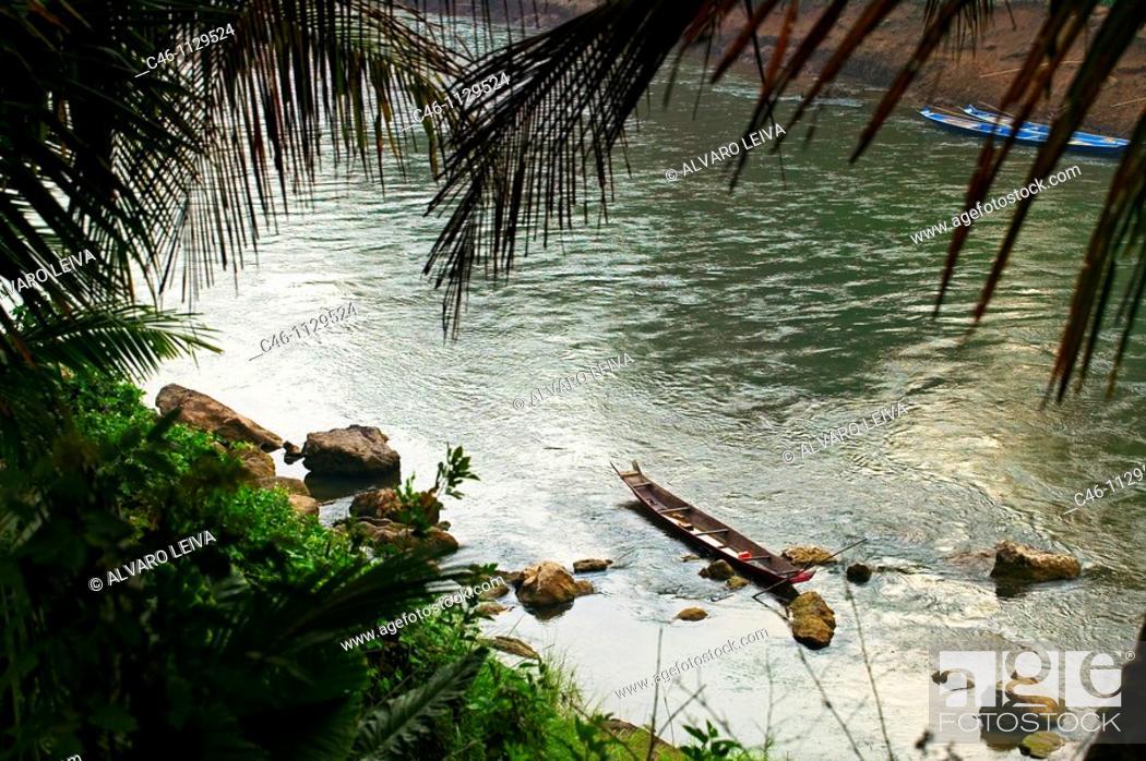 Stock Photo: Mekong River. Luang Prabang. Laos.