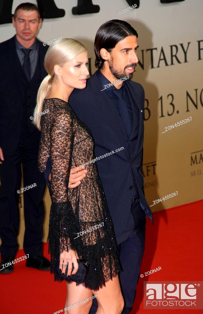 Sami Khedira And Lena Gercke Stock Photo Picture And