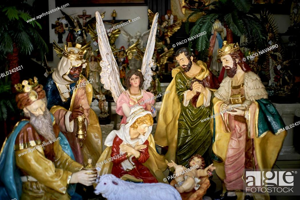 Stock Photo: Statues in nativity scene.