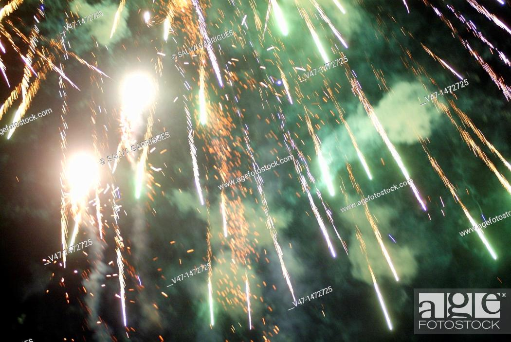 Stock Photo: fireworks, Valencia, Spain, Europe.