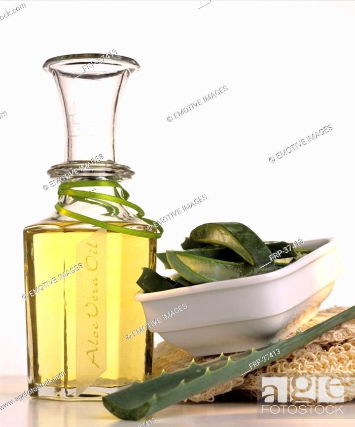 Stock Photo: Aloe Vera oil.
