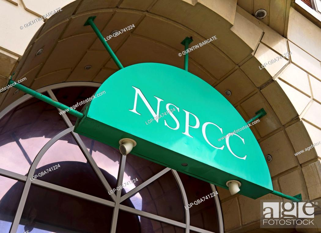 Stock Photo: Looking up at the outside of the NSPCC building.
