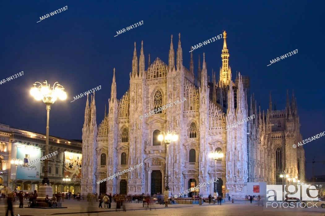 Stock Photo: duomo, milan cathedral, milano, lombardia, italy.