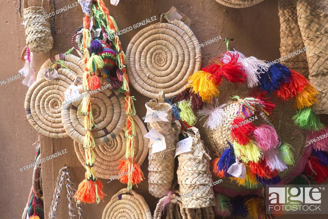 Stock Photo: Products for sale in a market in M'Hamid El Ghizlane, Zagora province, Morocco.
