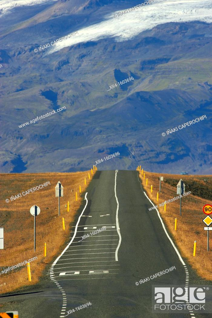 Stock Photo: Iceland, National Route 1.