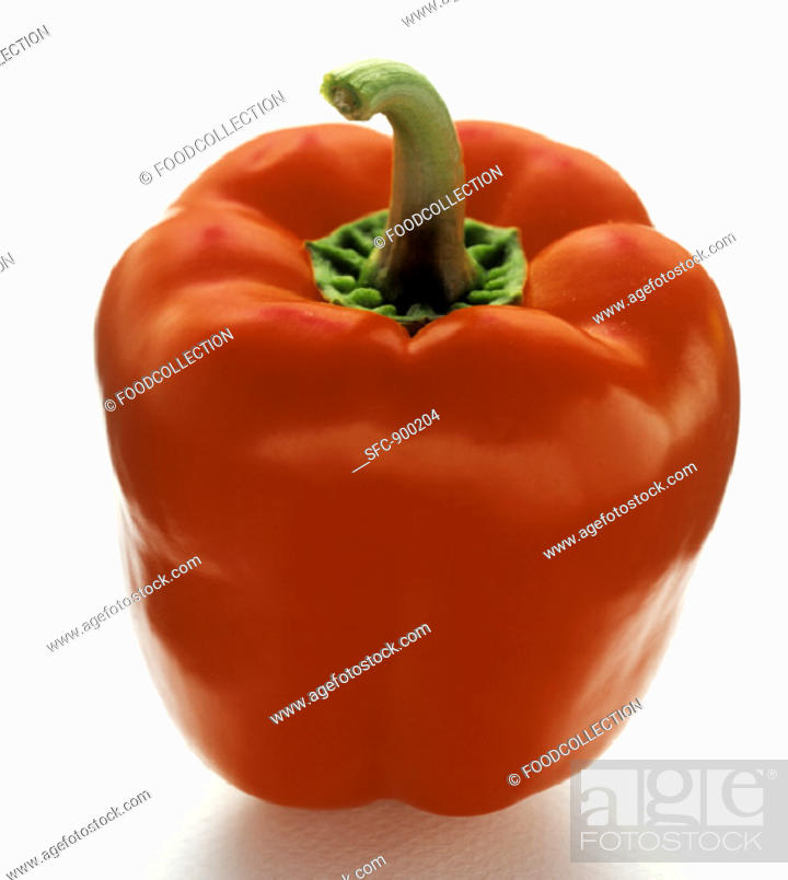 Stock Photo: A Red Bell Pepper.