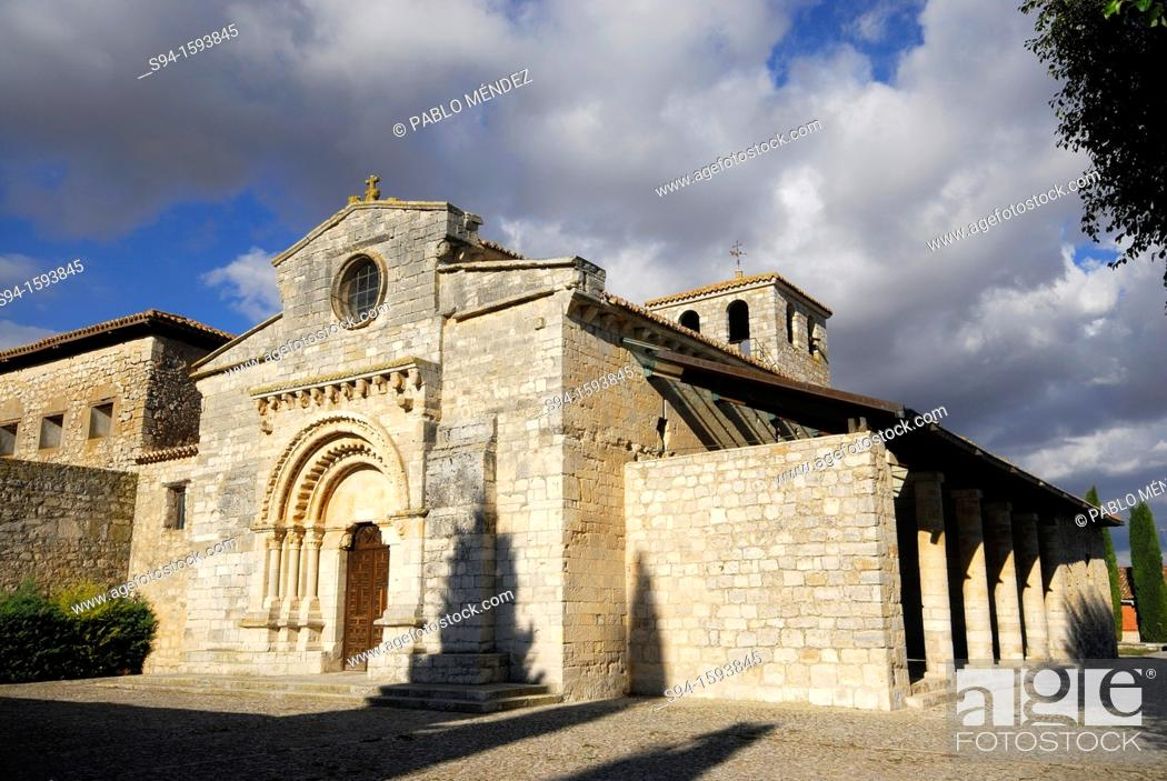 Stock Photo: Church of Santa María de Wamba, Valladolid province, Spain.