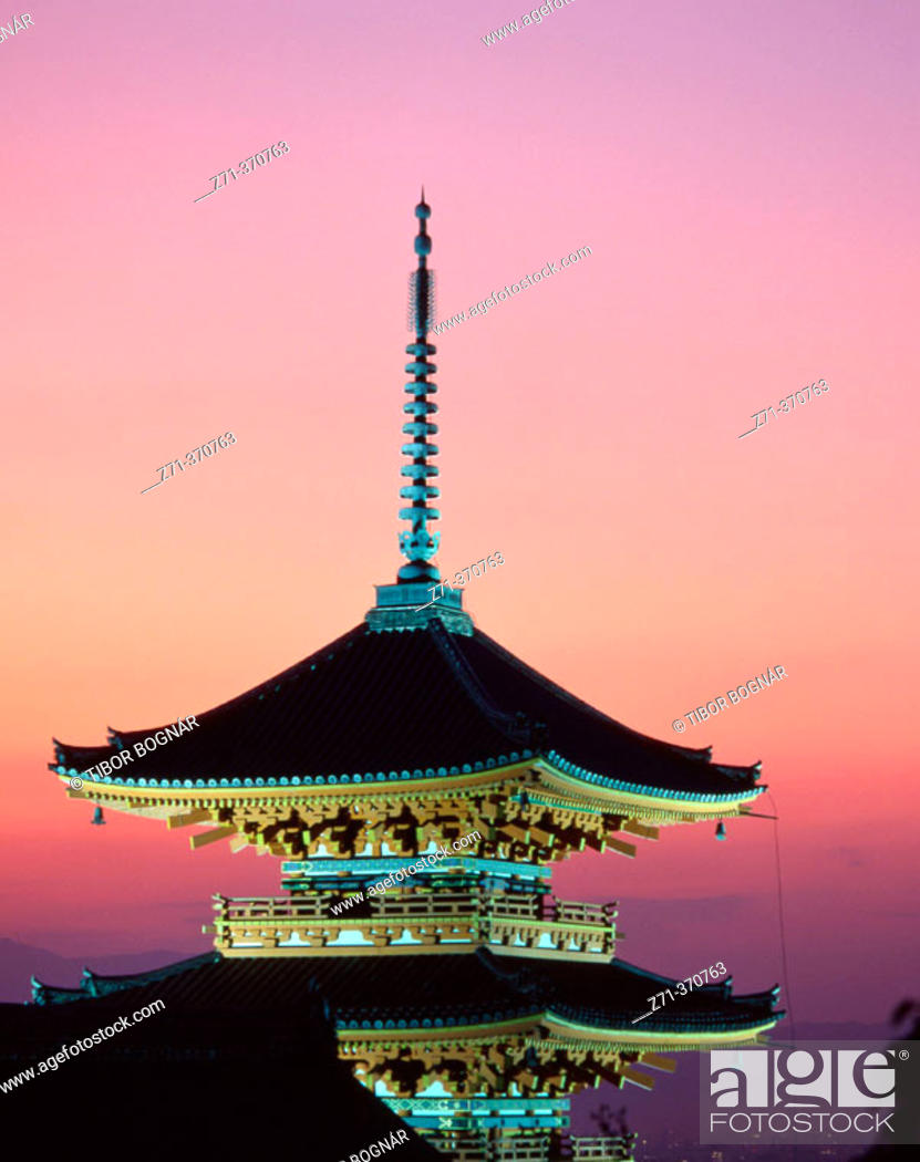 Stock Photo: Kiyomizu Buddhist temple. Kyoto. Japan.