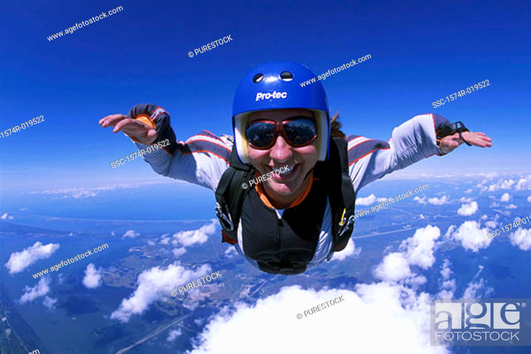 Stock Photo: Skydiving, Titusville, Florida, USA.