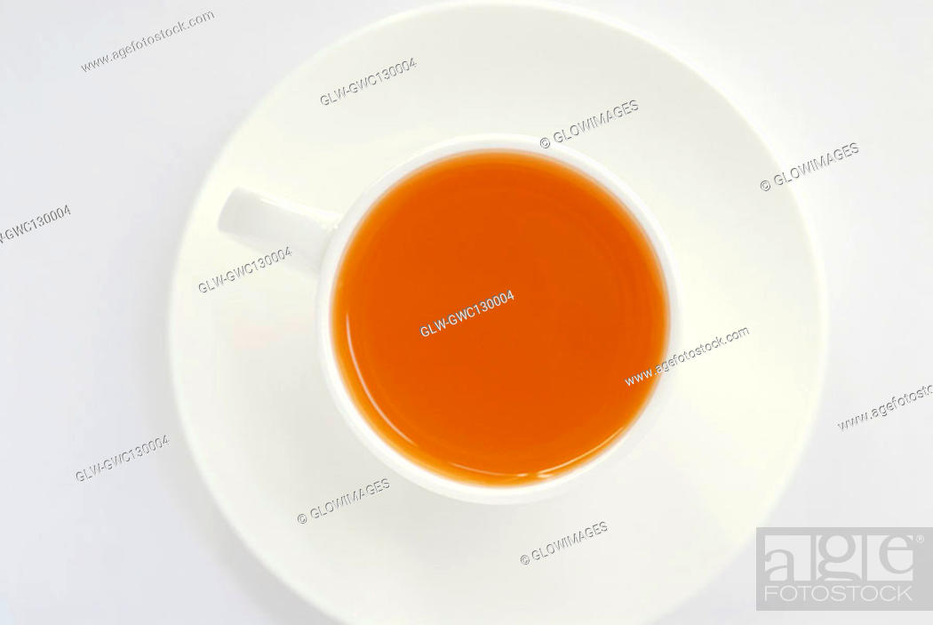 Stock Photo: High angle view of a soup in a cup.
