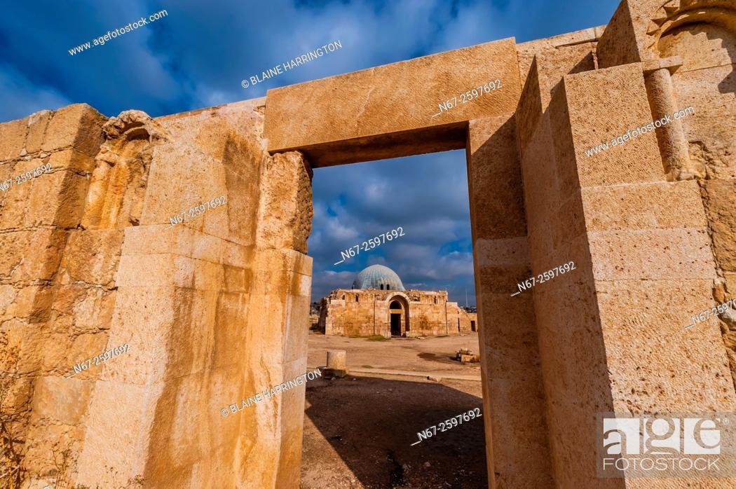 Stock Photo: Ummayad Palace, archaeological ruins, Amman Citadel, Amman, Jordan.