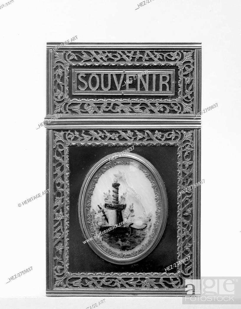 Stock Photo: Souvenir, 1781-82. Creator: Unknown.